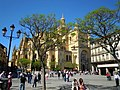 -2014-04-17 Cathedral of Segovia from Plaza Mayor.JPG
