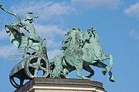 03 2019 photo Paolo Villa - F0197964 - Budapest - Piazza degli eroi - Monumento del millennio - War (Millennium Monument, Budapest).jpg