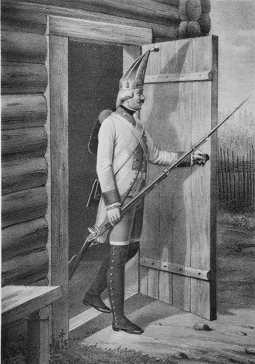 04 601 Book illustrations of Historical description of the clothes and weapons of Russian troops