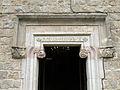 086 Castell de Santa Florentina (Canet de Mar), terrassa sud-est, inscripció Sol solet.JPG