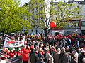 1. Mai 2013 in Hannover. Gute Arbeit. Sichere Rente. Soziales Europa. Umzug vom Freizeitheim Linden zum Klagesmarkt. Menschen und Aktivitäten (006).jpg