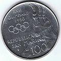 100 Lire San Marino - 1980 - XXII Olimpiade 03.jpg
