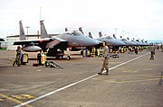 123d Fighter Squadron F-15s Portland International Airport Oregon