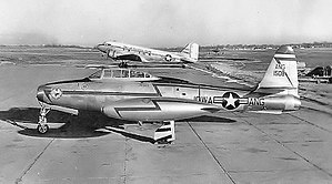Iowa Air National Guard - Iowa Air National Guard Republic F-84E Thunderjet at Des Moines Municipal Airport, 1956