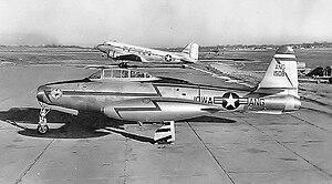 Iowa Air National Guard - Iowa Air National Guard Republic F-84E Thunderjet at Des Moines Municipal Airport, 1956