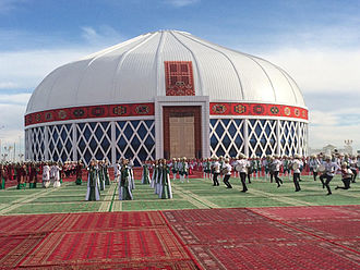 Mary, Turkmenistan - World's Largest Yurt in Mary