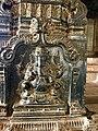 15th century Hazara Rama temple square mandapa Ganesha relief, Hampi Hindu monuments Karnataka.jpg