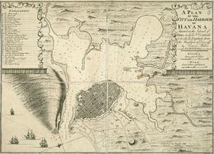 Timeline of Havana - Map of Havana, 1739