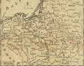 1757 Pinsk detail of map Russians March to Prussia BPL 14326.png