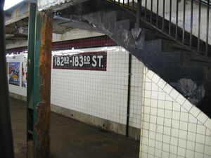 182nd–183rd Streets (IND Concourse Line) - Northbound platform
