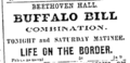 1877 BuffaloBill BeethovenHall BostonEveningTranscript January13.png