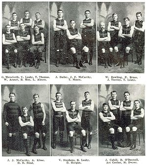 1909 SAFL season - 33rd season Pictured above is the 1909 West Adelaide premiership team.