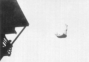 Albert Zürner - Zürner on the way to win the silver medal 10 m platform event at the 1912 Olympics.