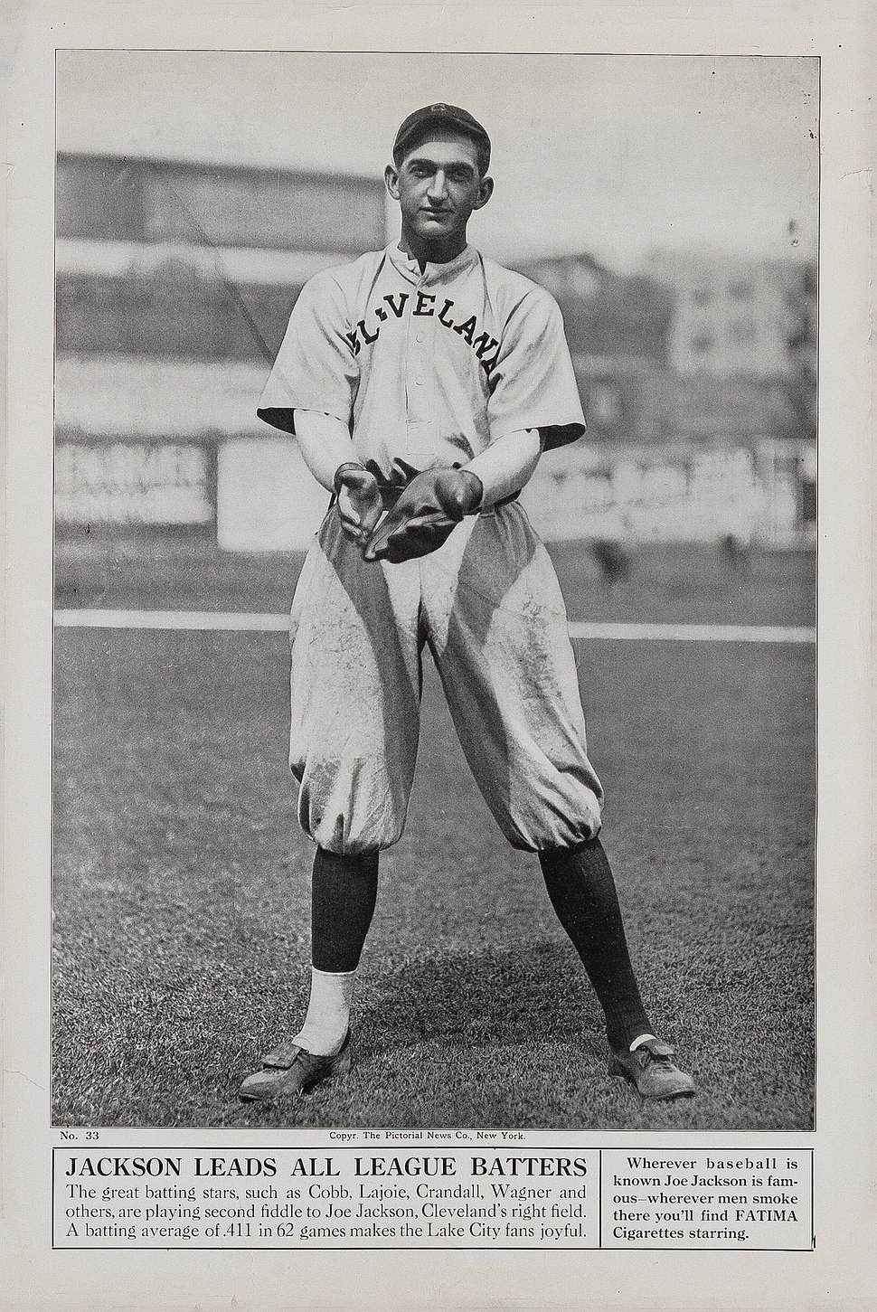 1913 Shoeless Joe Jackson Fatima Cigarette