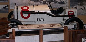Stutz Motor Company - 1915 Stutz White Squadron racer in the Petersen Automotive Museum