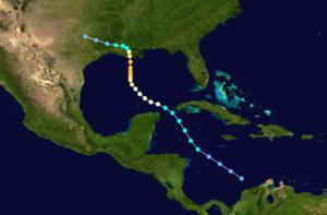 1926 Louisiana hurricane - Image: 1926 Atlantic hurricane 3 track