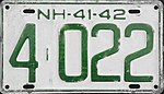 1942 New Hampshire license plate.jpg