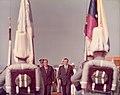 1973. Julio, 24. Rafael Caldera y Misael Pastrana. Celebración del Sesquicentenario de la Batalla Naval del Lago de Maracaibo.jpg