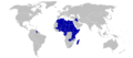 1976 Summer Olympics (Montréal) boycotting countries (blue).png