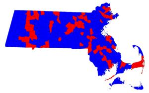 Massachusetts gubernatorial election, 1982 - Image: 1982 MA Governor