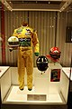 1992 Martin Brundle Racing Suit and Helmet, 1997 Damon Hill Helmet and 2000 Michael Schumacher Helmet (49254927491).jpg