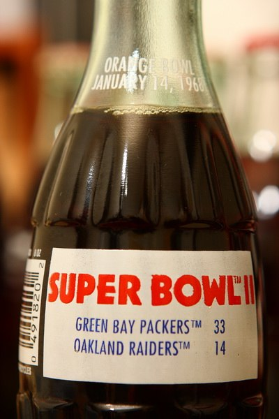 1994 Super Bowl II Packers vs Raiders, Orange Bowl Jan 14th 1968 Coke Bottle (3444192815)