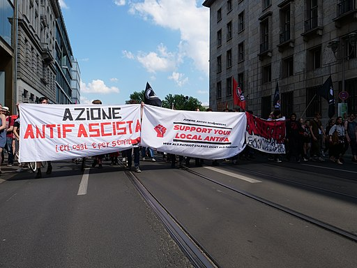 1Europafüralle demonstration Berlin Antifa block 08