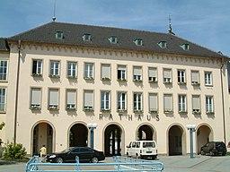 Rathaus zu de:Frankenthal (Pfalz), selbst fotografiert am 2006-06-09 und freigegeben durch de:Benutzer:Mundartpoet
