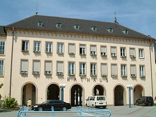 Frankenthal Place in Rhineland-Palatinate, Germany