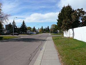 Jasper Park, Edmonton - Residential Street in Jasper Park
