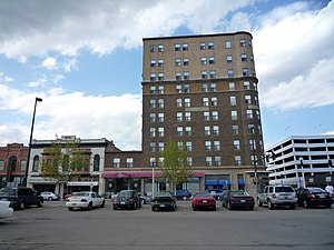Bismarck, North Dakota - Downtown Bismarck: Patterson Place (built in 1911 as the McKenzie Hotel) was the tallest building in the state until construction of the capitol building. Originally operated as a noted luxury hotel, it has been adapted for senior housing and a retail restaurant.