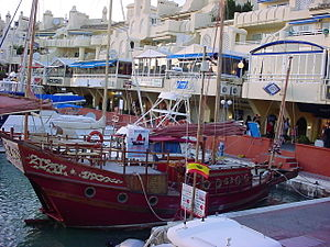 Benalmádena - Chinese junk making trips for tourists in Benalmádena