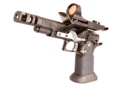 2011 type handgun with red dot, compensator, thumb rest, slide racker and magwell.png