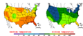 2014-05-25 Color Max-min Temperature Map NOAA.png