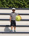 2015 US Open Tennis - Qualies - Small Boy with a Big Ball (20723331778).jpg