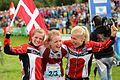 2015 World Orienteering Championships - Danish team winning Women's relay.JPG