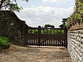 2018-05-11 Churchyard gates, Parish church of Saint Mary, Roughton, Norfolk.JPG