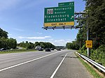 2019-05-27 15 11 28 View north along the outer loop of the Capital Beltway (Interstate 95 and Interstate 495) at Exit 23 (Maryland State Route 201-Kenilworth Avenue, Bladensburg, Greenbelt) in Greenbelt, Prince Georges County, Maryland.jpg