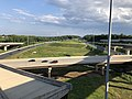 2019-07-24 18 14 30 View east along Interstate 695 (Baltimore Beltway) from the overpass for the ramp from southbound Interstate 95 to eastbound Interstate 695 on the edge of Rosedale and Rossville in Baltimore County, Maryland.jpg