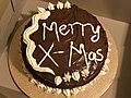 2020-12-24 18 32 24 A chocolate Christmas cake in the Franklin Farm section of Oak Hill, Fairfax County, Virginia.jpg