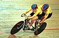 231000 - Cycling track Kerry Modra Kieran Modra action - 3b - 2000 Sydney race photo.jpg