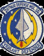 26th Air Defense Missile Squadron - ADC - Emblem