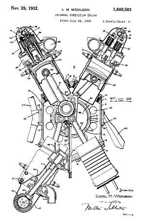 X engine - X-engine according to US Patent 1889583 (Eingetragen 1928)