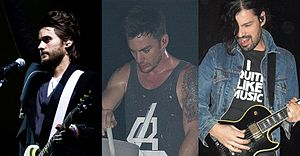 30 Seconds to Mars (left to right): Jared Leto...