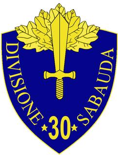 30th Infantry Division Sabauda