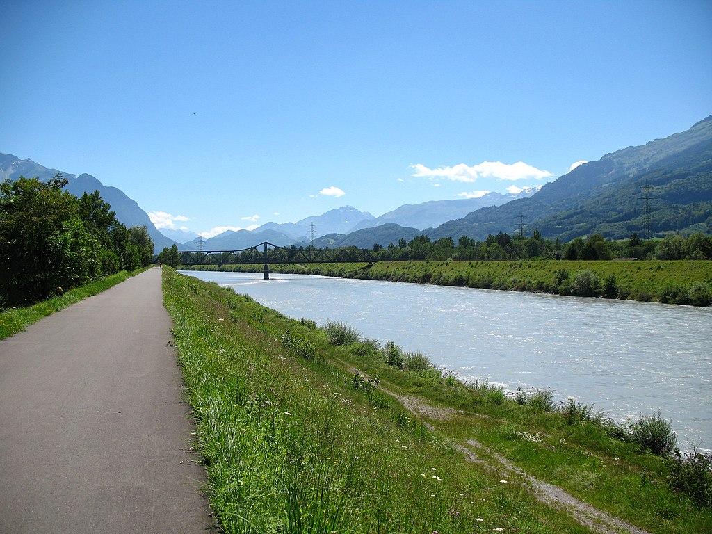 Most preko Rajne u Lihtenštajnu