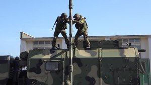 Файл:34th Headquarters Brigade's exercise with R-431AM & R-419L1 in North Ossetia (22-04-2020).webm