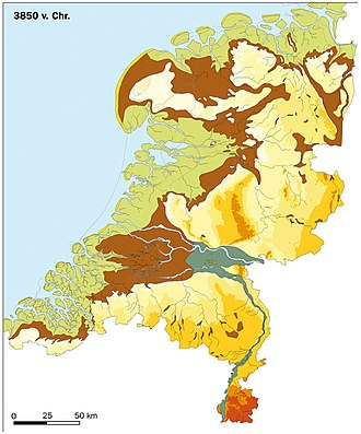 History of the Netherlands - The Netherlands in 3850 BC