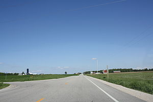 44th parallel north - 44th parallel in Wisconsin, United States