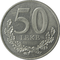 50 lekë of Albania in 2000 Obverse.png